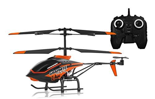 NincoAir - Helicóptero Graphite MAX 2.4 GHz, Color Negro y Rojo (NH90080)