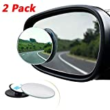 Blind Spot Mirrors for Cars, 2Pcs Oval HD Glass Convex Lens Frameless 360°