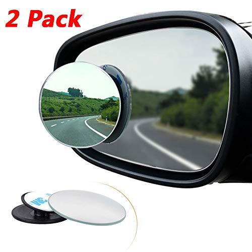 Blind Spot Spiegel (2 stuks) Auto Dode Hoek Spiegel Ovaal HD Glas Convex Lens, Randloos Achteruitkijkspiegels 360° Verstelbare Dodehoek Spiegel voor alle Auto, Vrachtwagen, SUV, Caravan, Self-Stick