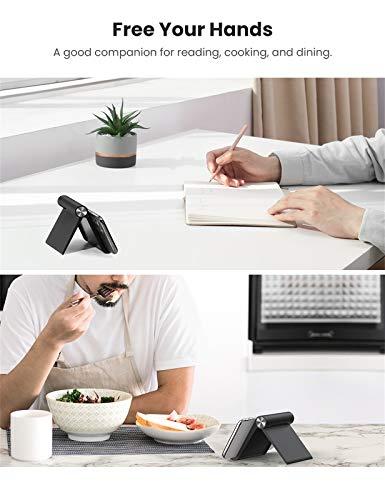 UGREEN Handy Ständer Tisch Handy Halter Handyhalterung Tisch Aufsteller tragbarer Handyständer kompatibel mit iPhone 11 Pro Max XS, Galaxy S20 S10, Huawei P30 Pro bis zu 7,9 Zoll (Schwarz)