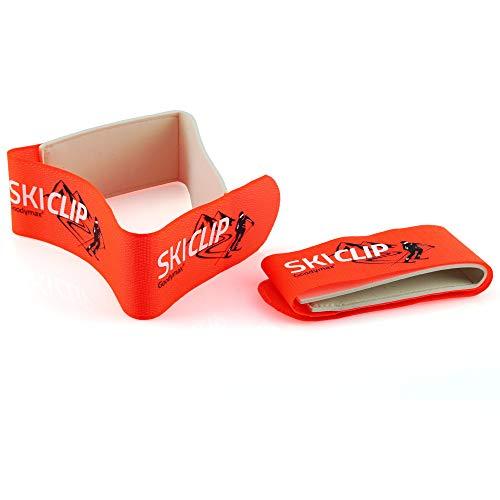 goodymax 1 Paar Skihalter Alpin Ski Clip Skiklip Klettband Richtig transportieren und lagern!