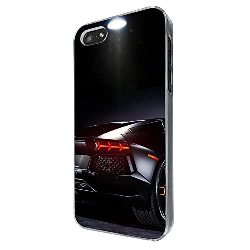 003216 - Fast black sports car boys dream orange rims Design For iphone 5 5S / iphone SE 2016 Fashion Trend CASE Back COVER Plastic&Thin Metal -Clear