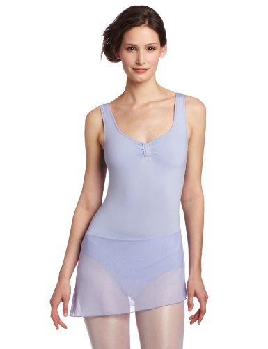 Danskin Women's Petite SizeDance Dress with Mesh Skirt Petite, Perris Lilac, Petite