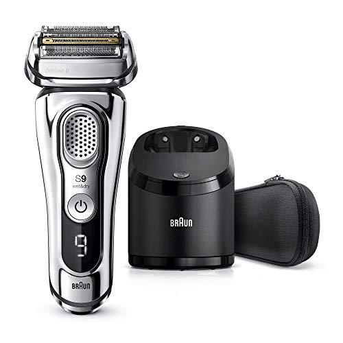 Braun Series 9 9375cc - Afeitadora eléctrica con 20% más de duración de la batería, estación de carga y limpieza mejorada, Wet&Dry afeitadora eléctrica, cromo