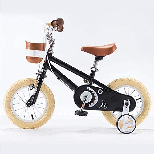 Gpzj Kinderfahrrad für 2-5 Jahre 12 Zoll Kinder Mädchen Jungen Fahrrad mit Stützrädern, Kleinkinderfahrrad mit Ständer, Laufräder mit Rücktrittbremse, 85% montiert