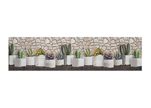 BIANCHERIAWEB Tappeto Passatoia Antiscivolo Stampa Digitale Sprinty Dis. Cactus Malaga 50x280 Malaga