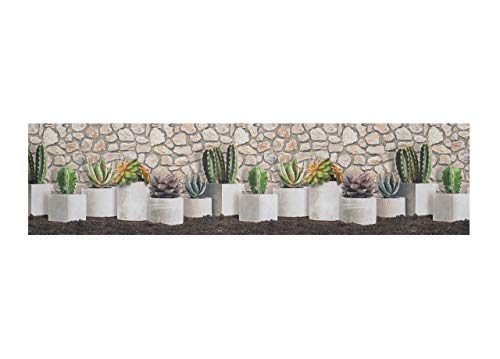BIANCHERIAWEB Tappeto Passatoia Antiscivolo Stampa Digitale Sprinty L'Originale Dis. Cactus 50x230 Cactus