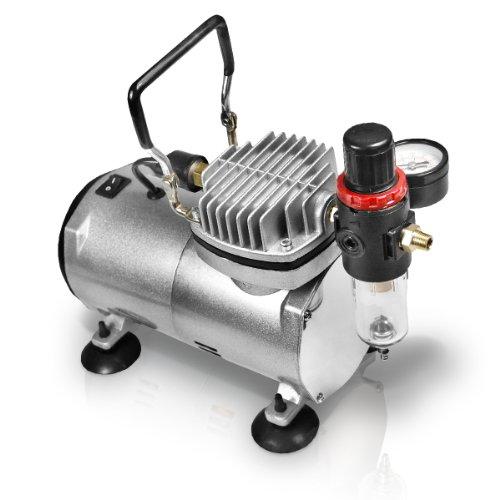 Druckluft Airbrush Kompressor Ölfrei mit Druckregler