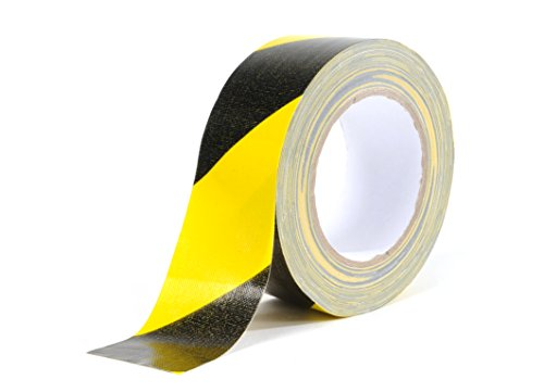 FAMA 90113 Gewebe-Warnband 50mm x 25m schwarz/gelb