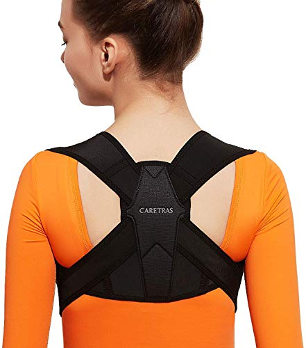 "Posture Corrector for Women and Men, Caretras Adjustable Upper Back Brace for Clavicle Support and Providing Pain Relief from Neck, Shoulder, and Upright Back L(31""-37"" inch)"