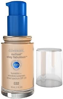 Covergirl Outlast Stay Fabulous 3 in 1 Foundation and Broad Spectrum SPF 20, #832 Nude Beige - 1 Oz, Pack of 2