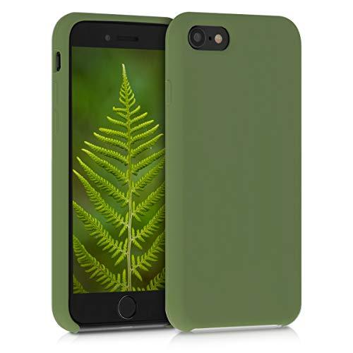 kwmobile Cover Compatibile con Apple iPhone 7/8 / SE (2020) - Custodia in Silicone TPU - Back Case Protezione Cellulare Verde Pesto