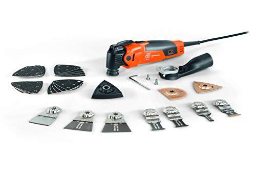 Fein MULTIMASTER MM 500 Plus Top (Multitool mit 5 m Kabel, 350 W, Multifunktionswerkzeug für Holz, Metall, Schleifen usw., inkl. Zubehör 30-tlg. mit Kunststoffkoffer) 72296761000