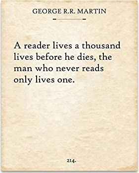 George R R Martin - A Reader Lives - 11x14 Unframed Typography Book Page Print - Great Gift Under $15 for Book Lovers