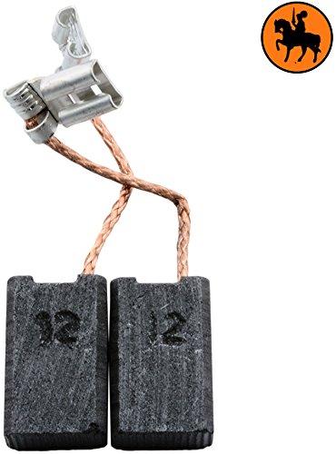 Buildalot Specialty Kohlebürsten ca-17-23196 für AEG Poliermaschine WSE180-6,4x10x16mm - Mit Automatischer Abschaltung, Federn, Kabel und Stecker - Ersatz für Originalteile 4.931.279.612