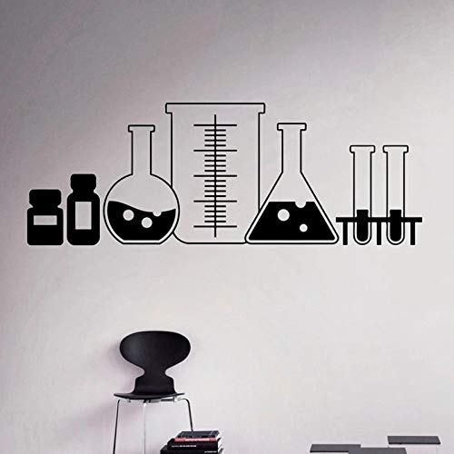 Laboratory Glass Wall Stickers Vinyl Chemistry Classroom Art Decoration Home Window Design