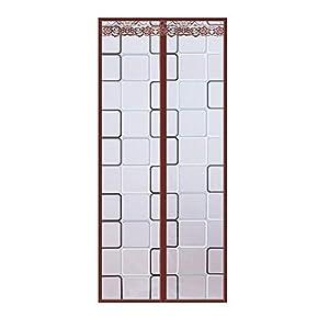 Panel de cortina de puerta de cocina magnética,cortina aislamiento térmico transparente,cortina aire acondicionado PEVA cortina puerta pantalla de imanes multiusos para prevención de humos de cocina