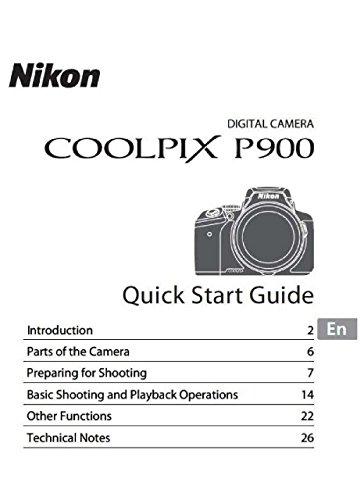 Nikon Coolpix P900 Camera User's Manual Booklet
