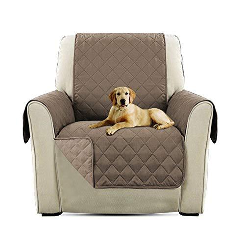 PETCUTE Lujo Cubre para Silla Fundas de Sofa Protector de sofá o sillón, Dos o Tres plazas Marrón Claro Silla