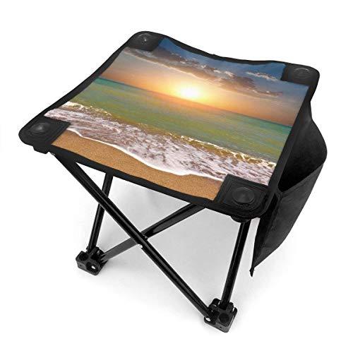 End Nazi Tabouret de Camping chaises Pliantes Beach Sunset Ocean siège de Chaise Portable