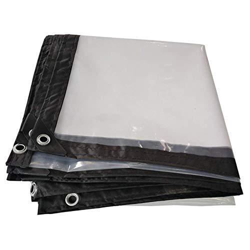 LXLA- Bâche anti-pluie transparente avec oeillets, toile de hangar isolante pour bâche imperméable polyvalente - 120g / m² (taille : 1m x 1m)