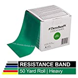 TheraBand Resistance Bands, 50 Yard Roll Professional Latex Elastic Band For Upper & Lower Body &...