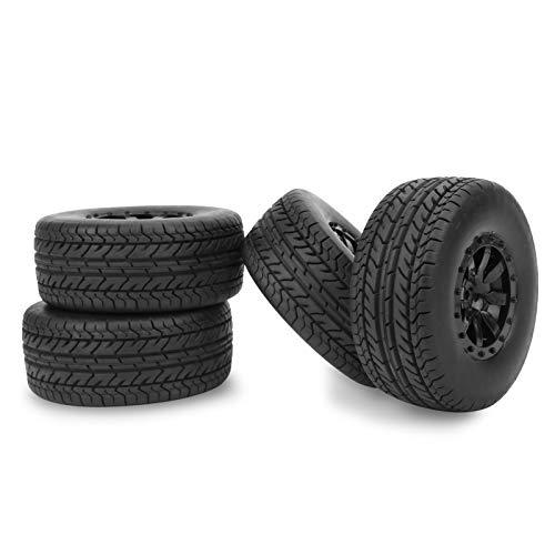 VGEBY Neumático RC de 4 Piezas, neumático de camión RC de Recorrido Corto, Tipo de Rueda de Coche RC, Ajuste de Repuesto para 1/10 Traxxas Slash (10044)