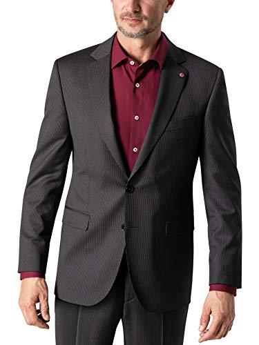 Walbusch Herren Nadelstreifen Anzug Sakko einfarbig Anthrazit 58