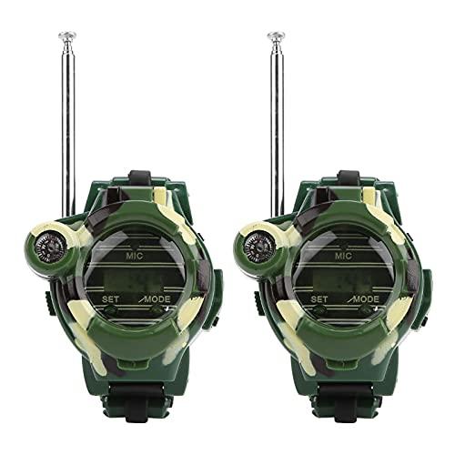 2 unids 7in1 camuflaje caliente manera radio walkie talkie niños espía reloj muñeca Gadget juguetes al aire libre interfono juguete regalo para Chirlden
