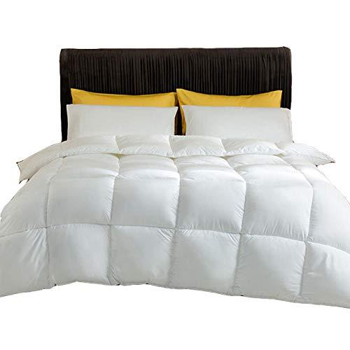 Goodlife-1 Vier Jahreszeiten Bettdecke Warme Entendaunen-Bettdecke Doppelte antibakterielle Anti-Milben-Daunendecke - Antiallergie und warm-White_200x230cm-3kg