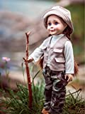 The Queen's Treasures 18 Inch Doll Clothes, 4 Pc Fishing Outfit, Compatible with American Girl Dolls