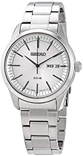 Seiko Mens Analogue Quartz Watch with Stainless Steel Strap SNE523P1