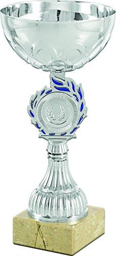 Art-Trophies AT81193 Trofeo Deportivo, Plateado/Azul, Talla Única