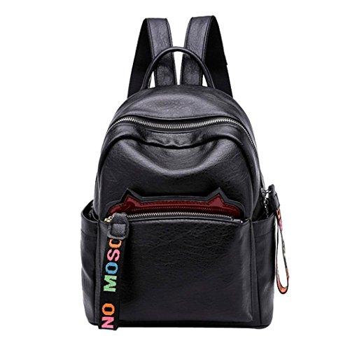 Realdo Fashion Womens Girls Cat Ear Backpack Shoulder Crossbody Travel Diagonal Package Student Bag