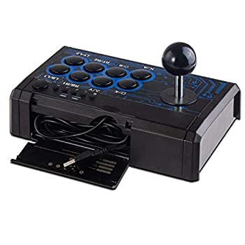 SUNCHI 7 in1 USB Arcade Fight Stick Street Fighting Joystick Gamepad controller for PS3 / PS4 / XBOX ONE / XOBX 360 / PC / Android /Switch