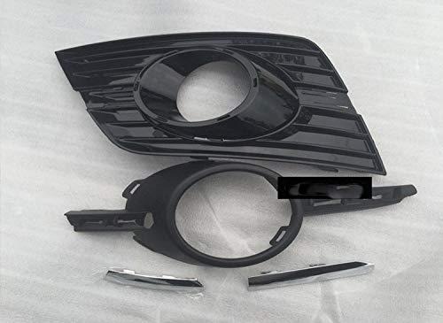 SXGKYY Auto De Choque Grille Luz De Niebla Cubierta Inferior Parrilla Fit For V-W Passat CC Rline Niebla Cubierta De La Parrilla De La Lámpara Rejilla de Faros antiniebla (Color : Right)