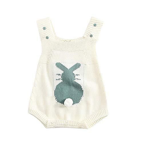 ALIKEEY Infant Nouveau-Né Bébé Garçon Fille Lapin Tricot Romper Lapin Body Crochet Vêtements Manteaux Et Blousons Cadeau De Noël pour Votre Bébé