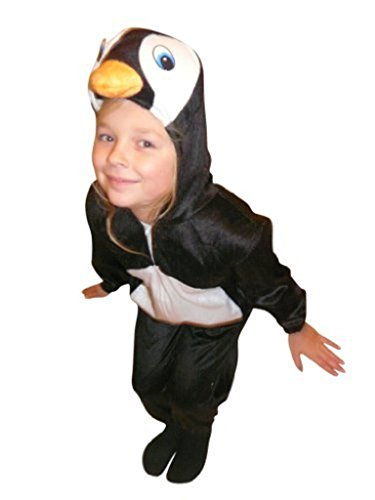 Seruna Pinguin-Kostüm, AN46, Gr. 98-104, für Kinder, Pinguin-Kostüme Pinguine für Fasching Karneval, Klein-Kinder Karnevalskostüme, Kinder-Faschingskostüme, Geburtstags-Geschenk Weihnachts-Geschenk