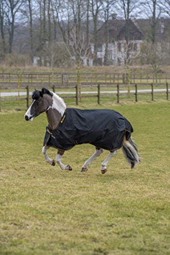 Bucas Irish Turnout Extra 300g Pony 1200D - black/gold, Groesse:95