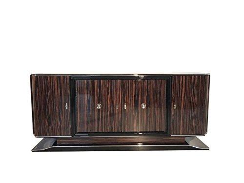 OAM Art Deco Makassar Sideboard mit schwarzem Innenleben