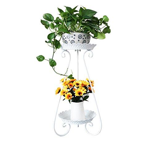 NNIU- Fleur de fer à plusieurs étages étage Flowerpot salon intérieur balcon fleur étagère ( taille : 80*36*36cm )