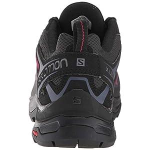 Salomon Women's X Ultra 3 Hiking Shoes, Graphite/Black/Citronelle, 7