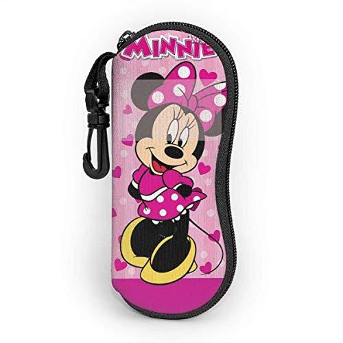 beibao Estuche para gafas de sol y anteojos Minnie Mouse Soporte duradero para gafas con cremallera y clip para cinturón-609