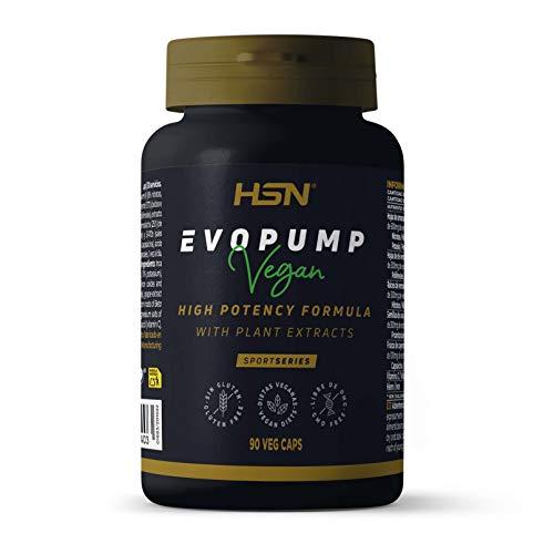 HSN Evopump Da Hsn | Pre Workout Senza Caffeina E Creatina | Pre Workout Ultra Concentrato | Pre Workout Ossido Nitrico | Vegan, Senza Glutine, Senza Lattosio | 90 Capsule Veg - 90 ml