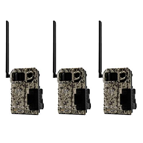 SPYPOINT LINK MICRO Verizon 4G Cellular Hunting Trail Game Cameras (3 Pack)