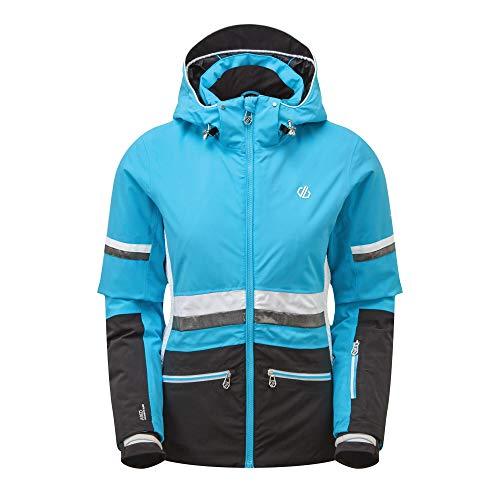 Dare 2b Damen Evidence Jacket wasserdichte isolierte Jacken, AzureBl/Blk, UK 10 - Bust 34