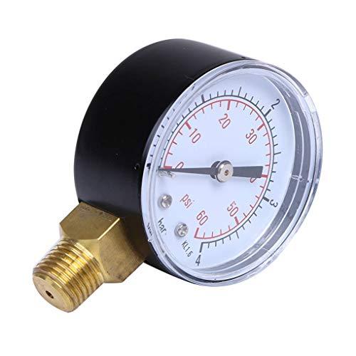 50 mm de presión de Agua Medidor de Rosca Monte Manómetro de Aceite del compresor de Aire Manómetro probador 0-4bar 0-60psi BSPT