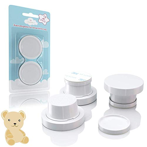 Avantina® Magnetische Kindersicherung Schrank und Schubladen - 4 Stück I 8 Stück I 16 Stück - Schranksicherung – unsichtbare Kindersicherung - Kinder-sicherung für Küchen (2 Extra Magneten)