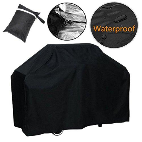 Haodou Housse de protection pour barbecue - Étanche à la poussière - Noir - 147 x 61 x 122 cm