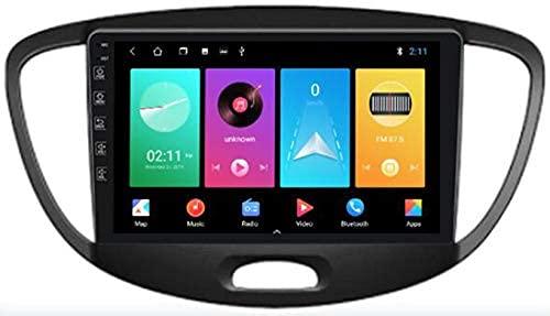 Android 10.0 Autoradio 2 DIN Stereo Auto per Hyundai I10 2007-2013 Navigatore Auto 9 Pollici HD Touch Screen con Bluetooth Mani Libere Mirror Link MP5 Player WiFi USB